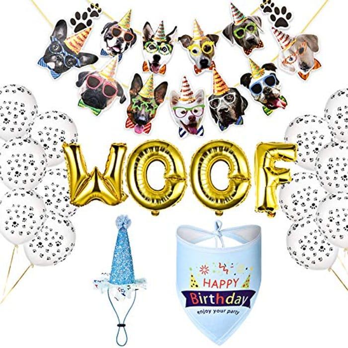 Dog Birthday Party Decoration Set
