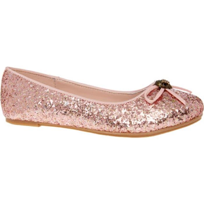 KURT GEIGER Pink Mini Esme Ballerina Shoes