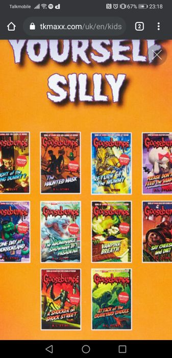Goosebumps 10 Book Set.