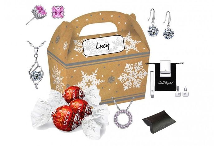Customisable Christmas Gift Box Made with Crystals from Swarovski