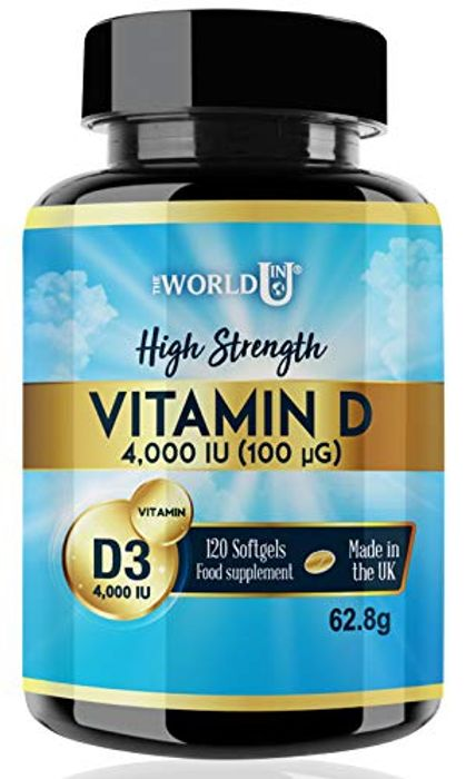 LIGHTNING DEAL - Vitamin D3 4000IU Softgels Rapid Absorption Vitamin D