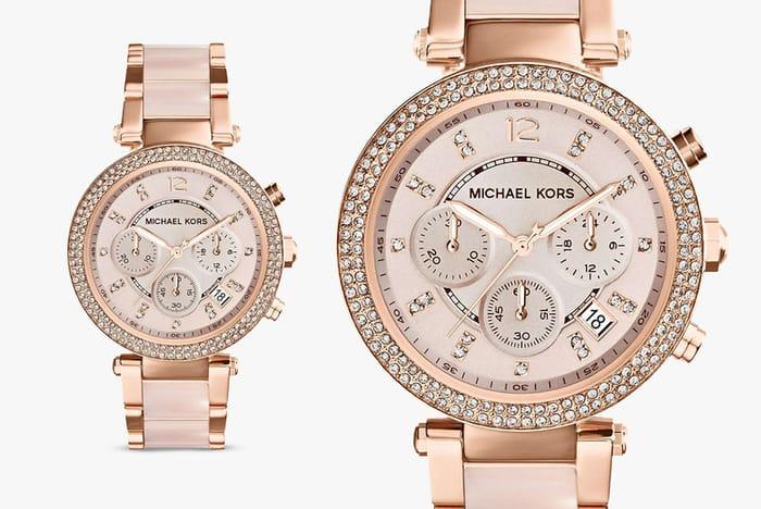 Ladies Michael Kors MK5896 Parker Watch - Rose Gold £105.99 Delivered