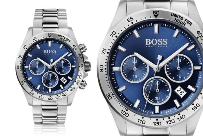Mens Hugo Boss HB1513755 Blue Silver Sport Stainless Steel Watch