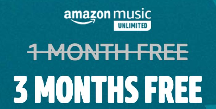 FREE: 3 Months Amazon Music Unlimited