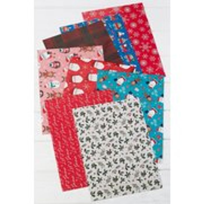 Pack of 8 Christmas Wrap Sheets