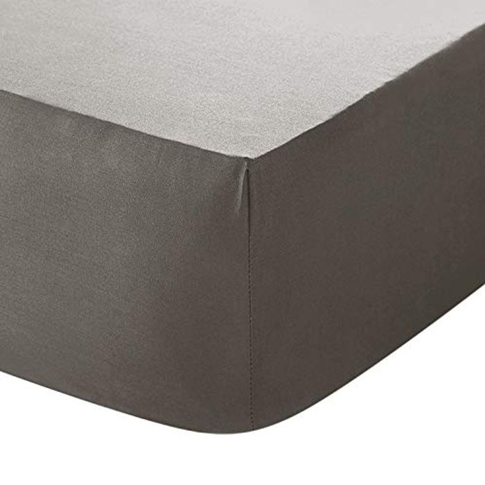 Indus Textiles Extra Deep Fitted Sheets 40CM - Grey - King with £5 off Coupon