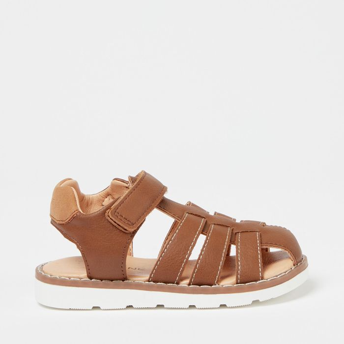 Cheap Maine New England - Boys' Tan Fisherman Sandals with 50% Discount!