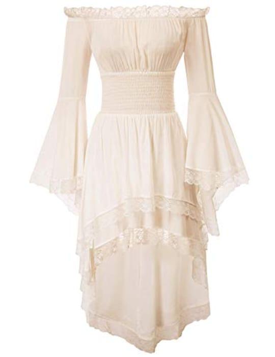 Save 65% on Promotion Tab Prime Delivery Women Vintage Victorian Cold Shoulder