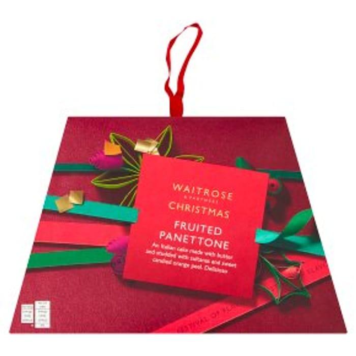 Waitrose Christmas Fruited Panettone 750g
