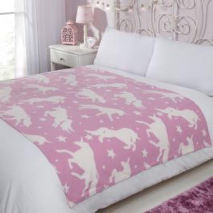 Unicorn Fleece Blanket 120x150cm