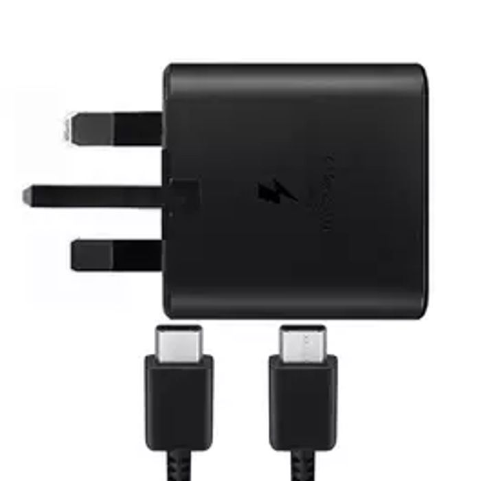Samsung Galaxy Fast Charging Adaptor + USB-C Cable - Black FFP - Only £14.99!