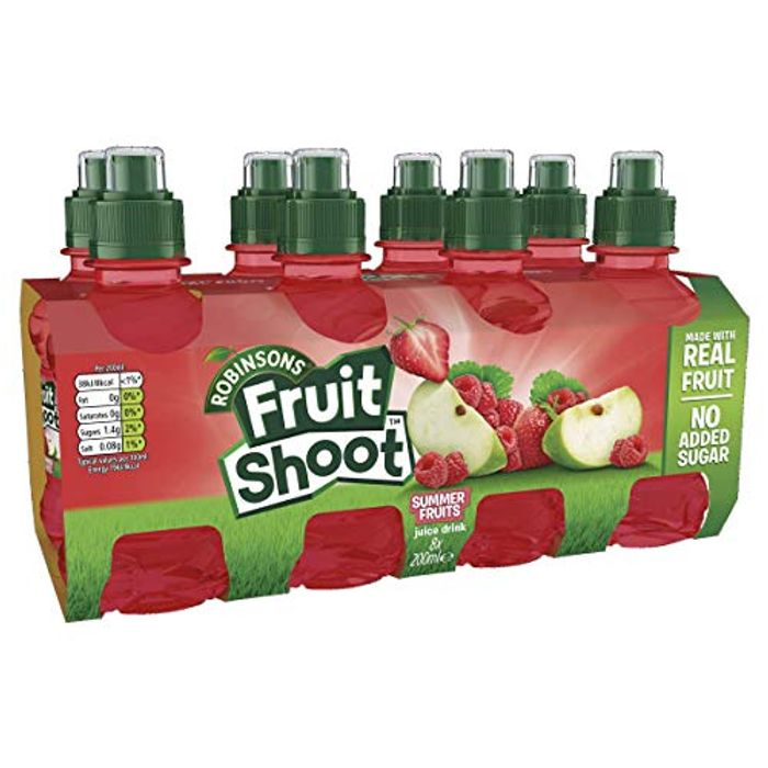 Robinsons Fruit Shoot Fruit Juice Summer Fruits, 8x200ml