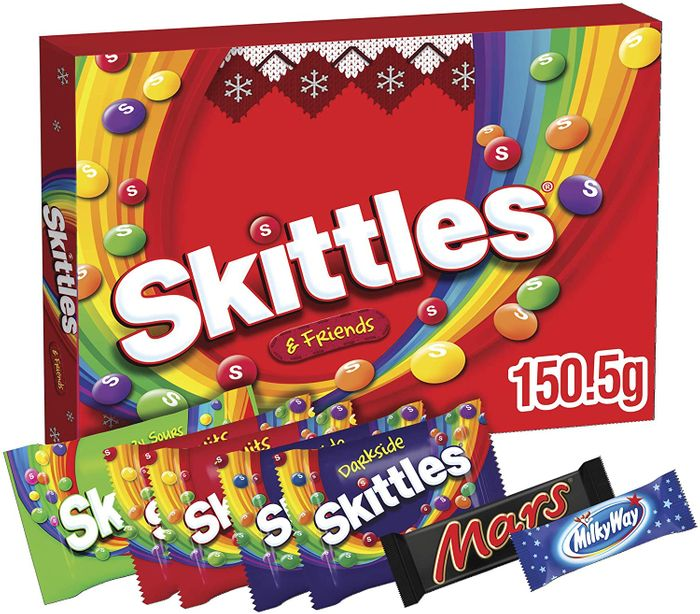 Skittles Sweets Box, Stocking Fillers, Selection Box, 150.5g