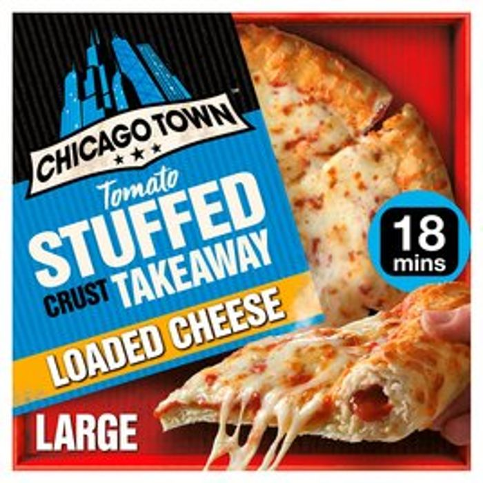 Chicago Town Cheese Pizza Tomato Stuffed Crust Takeaway