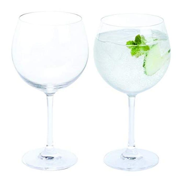 Dartington Crystal - Crystal Copa Gin Glasses, Set of 2 X 650 Ml - Gift Boxed