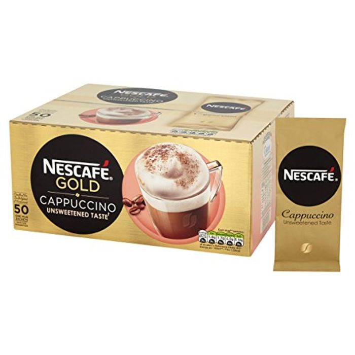 Nescaf Gold Cappuccino Unsweetened Taste Coffee, 50 Sachets X 14.2G