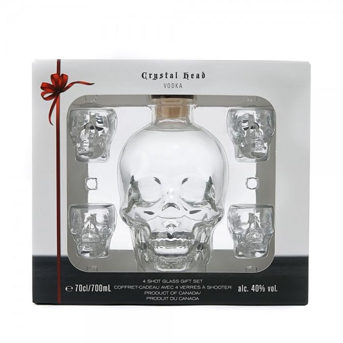 Crystal Head 4xshot Glass Pack 70cl