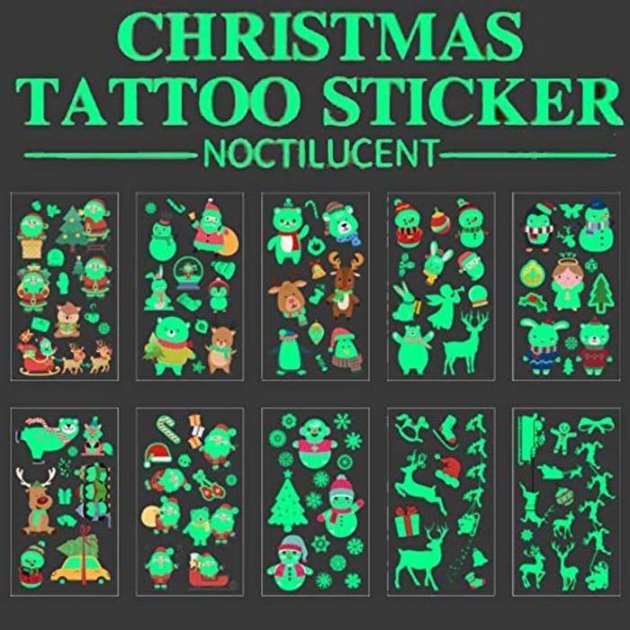 106pcs Glow in the Dark Christmas Tattoos
