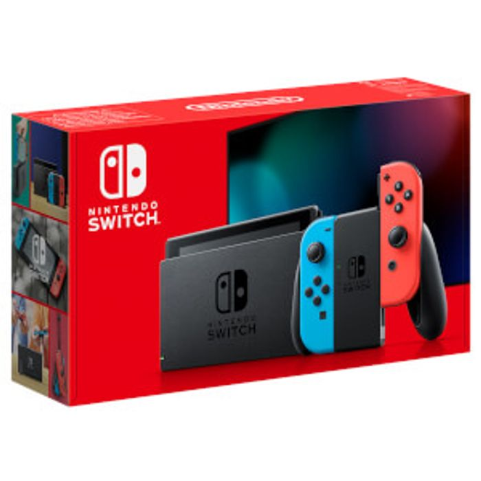 Nintendo Switch + Neon Blue / Red Joy-Con Controllers + Free 64GB Memory Card