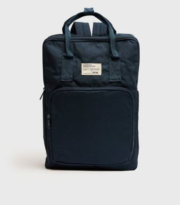 Teal Tab Front Backpack