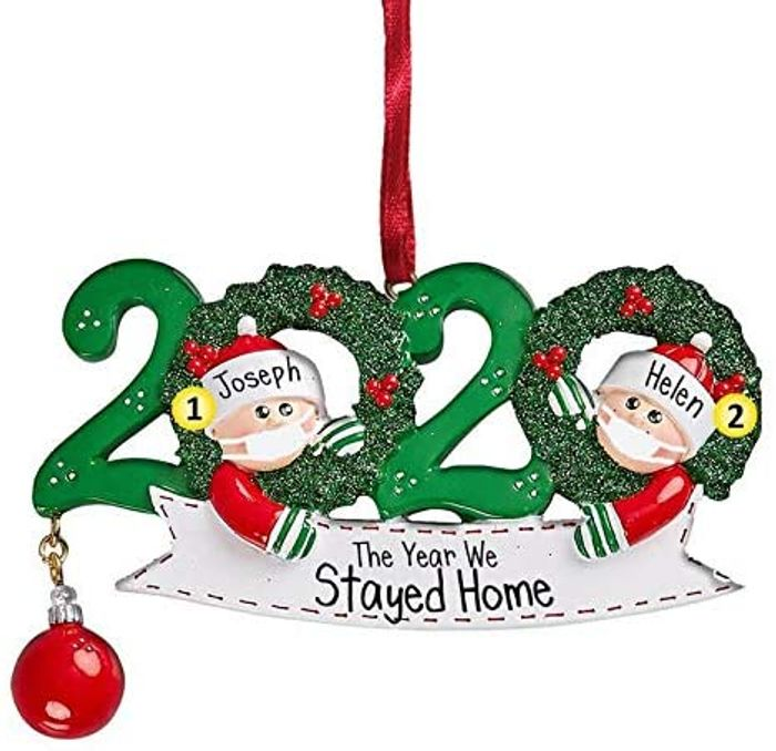 2020 the Year We Stayed Home Christmas Tree Decoration (Free Delivery)