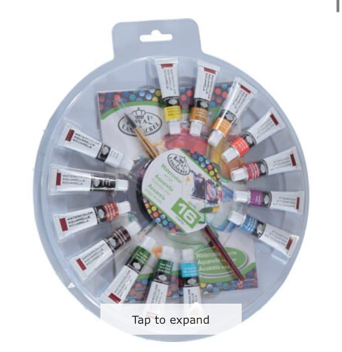 ROYAL & LANGNICKEL Multicolour Watercolor Paint 16PK Wheel