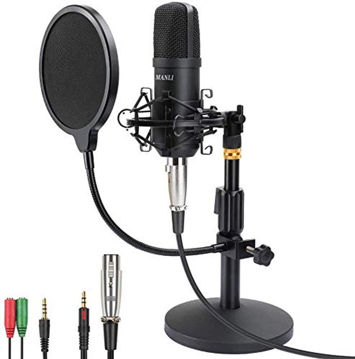 Microphone Kit AU-A03T PC Condenser Podcast Streaming Cardioid Mic