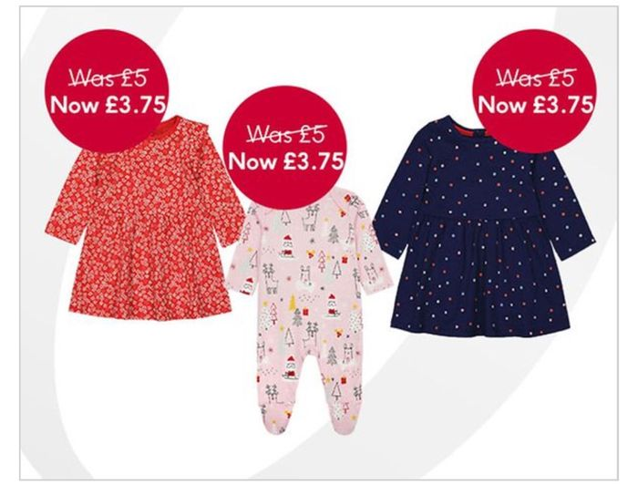 save 25% on Selected Mothercare Clothing Price Start £3.75