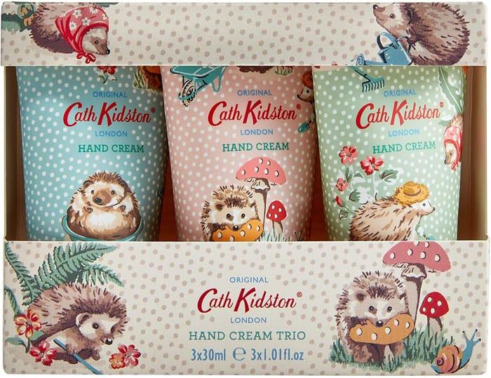 Cath Kidston Hedgehogs Hand Cream Trio Gift Box Travel Size, 3 X 30 Ml