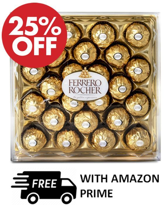 Ferrero Rocher Chocolate Gift Box, 24 Chocolates