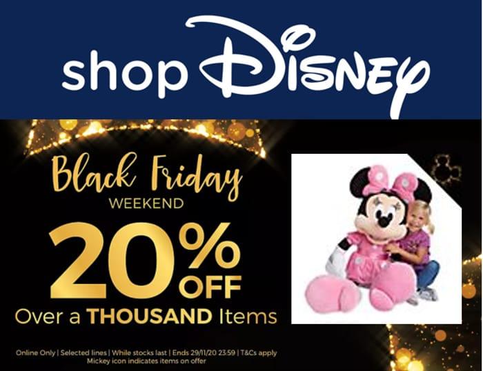 Shop Disney - Black Friday Weekend - 20% off - Ends Sunday