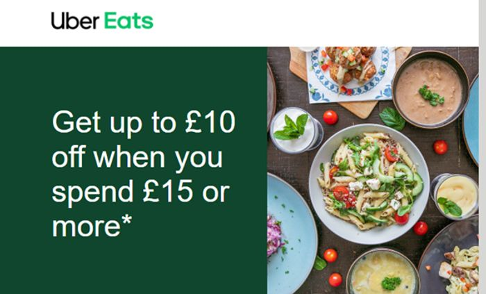 up to £10 off When You Spend £15 or More on Your next Three Orders