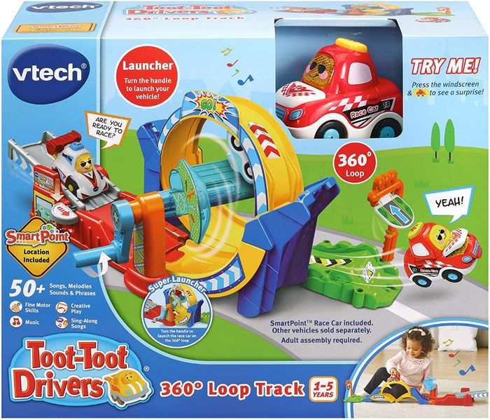 Lowest Ever Price! VTech Toot-Toot Drivers 360 Loop Track