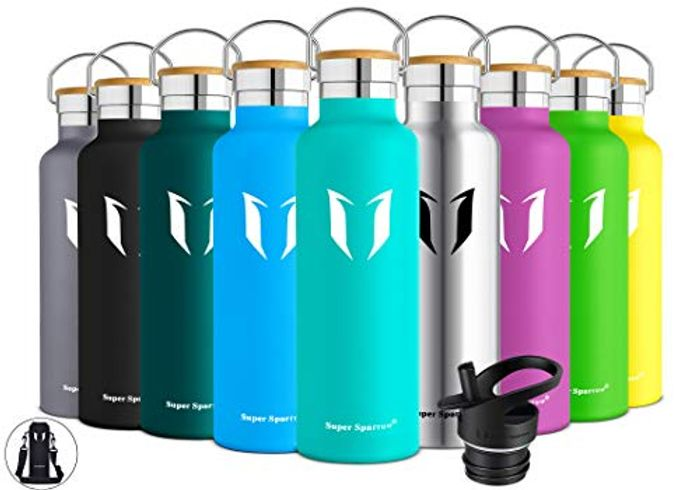 DEAL STACK - Super Sparrow Water Bottle - Stainless Steel Bottle