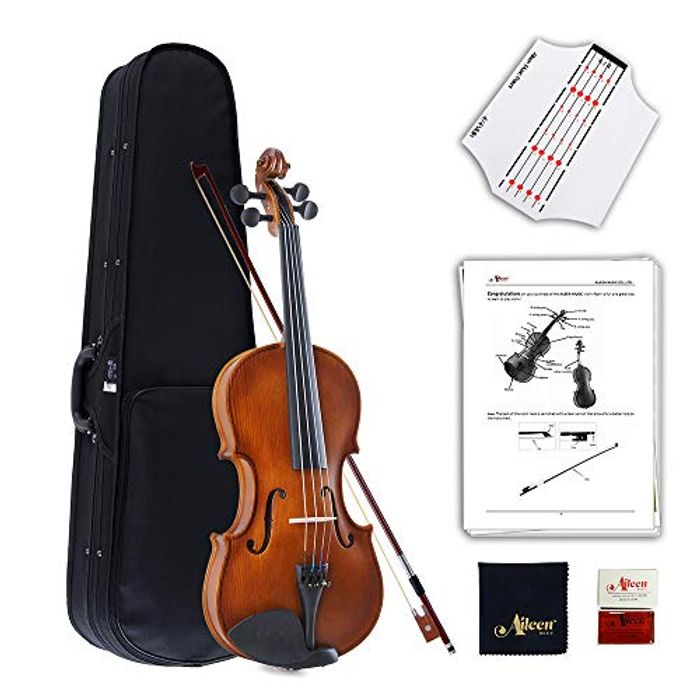 Aileen Violin 4/4 Full Size for Beginners with Fingerboard Sticker