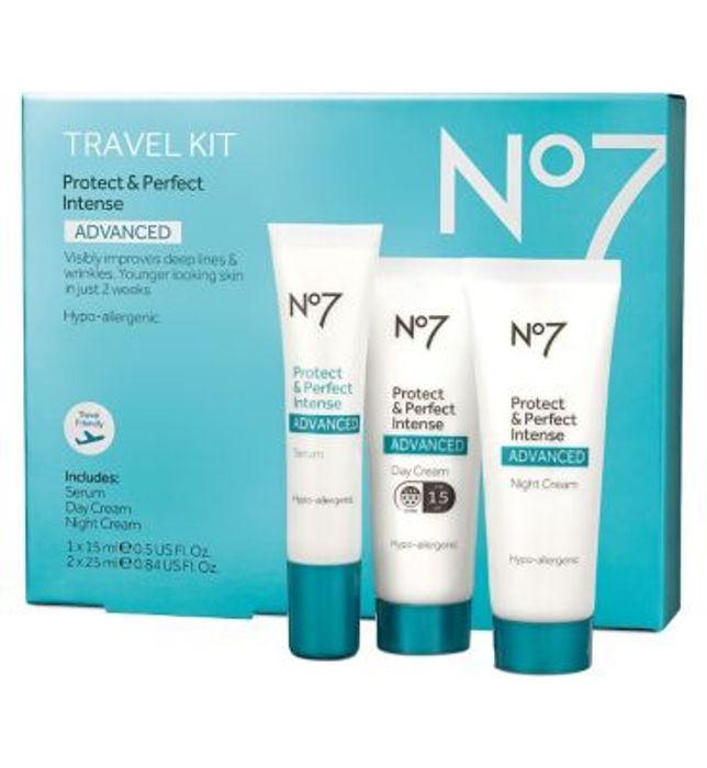 No7 Protect & Perfect Intense ADVANCED Travel Kit Only £13
