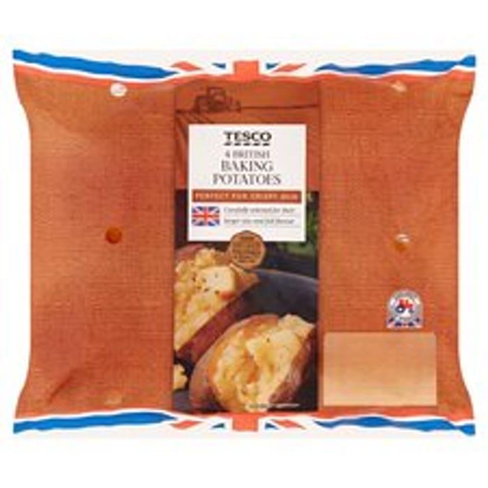 Tesco 4 Baking Potatoes (35p for Clubcard Holders)