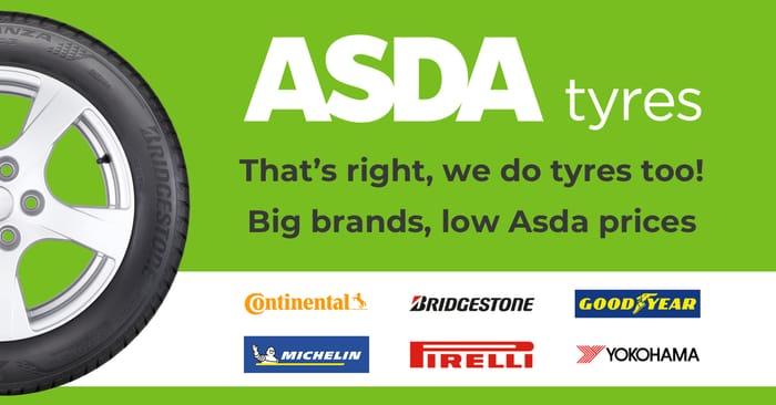 £20 off Four at Asda Tyres