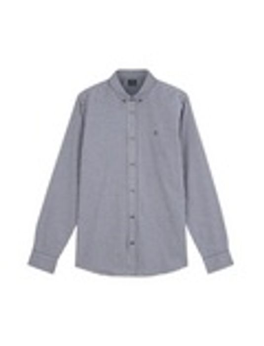 Blue Melange Gingham Shirt