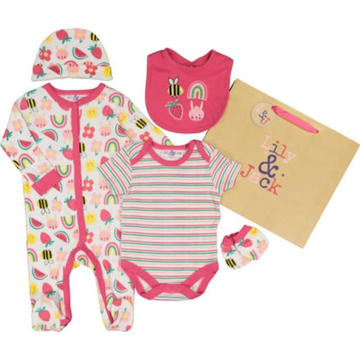Pink Fun Patterned Baby Set