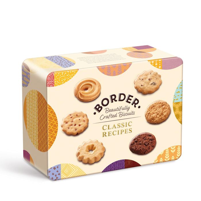 Border - Classic Recipe Biscuit Selection Tin 500g with Code