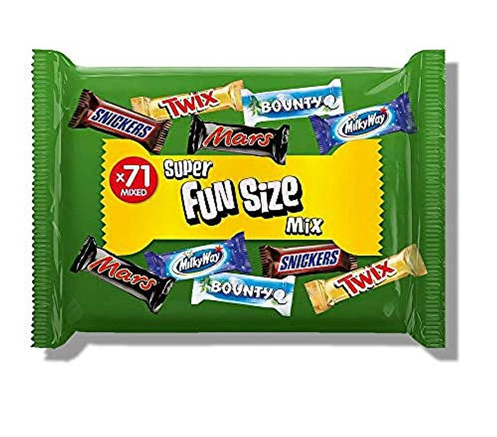 71 Assorted Fun Size Chocolate Bars, 1.4 Kg