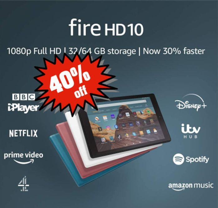 SAVE £60 - Fire HD10 Tablet - ALL COLOURS