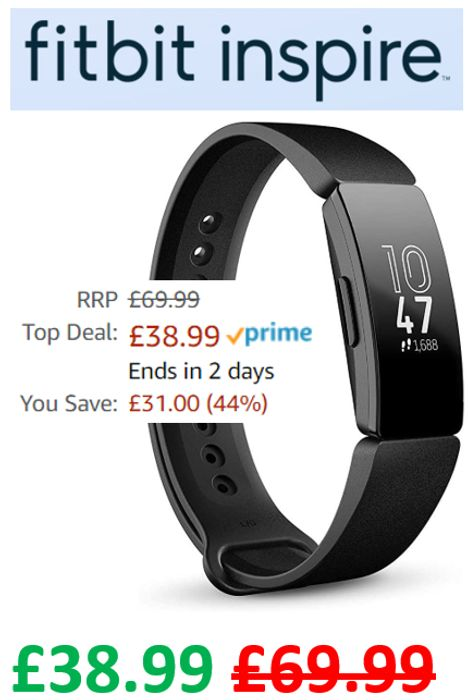 SAVE £31 - FITBIT INSPIRE - Health & Fitness Tracker