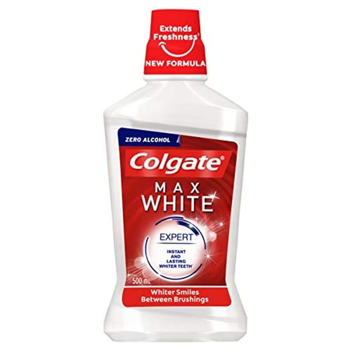 Colgate Max White Expert Alcohol Free Whitening Mouthwash, 500 Ml