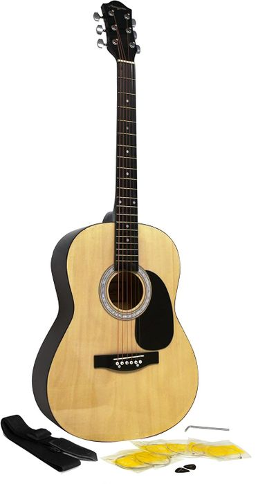 Martin Smith Acoustic Guitar Kit with Strings Guitar Plectrums Guitar Strap