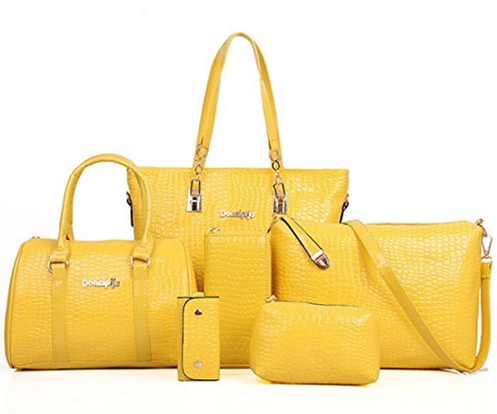 CHEAP! FiveloveTwo Womens Ladies 6 Pieces Handbag Set