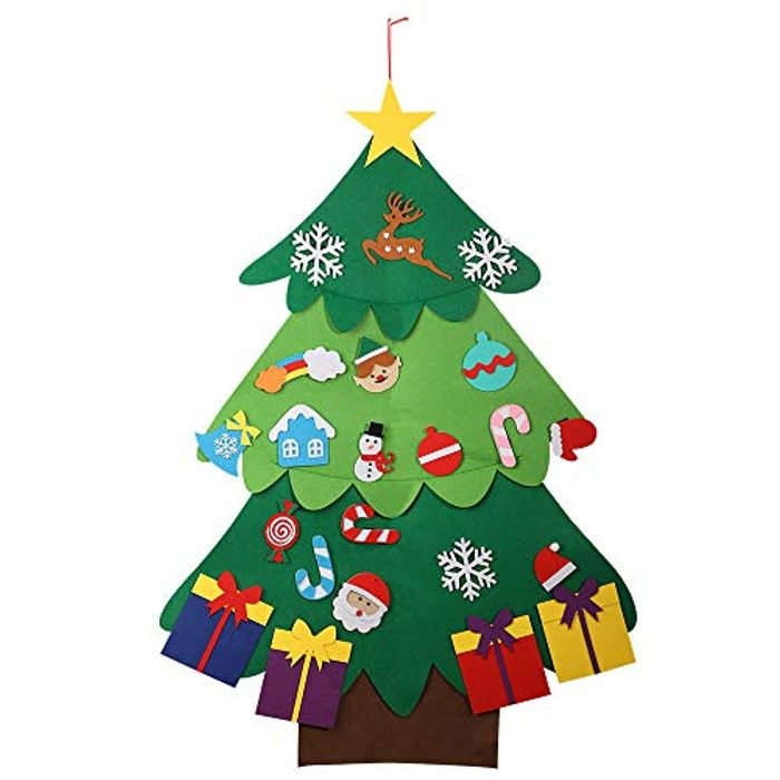 Felt Tree, 3.7ft DIY Christmas Tree with Ornaments Wall Decor - Only £5.99!