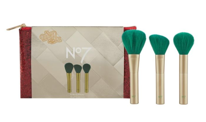 No7 Wizard of Oz Ruby Slippers Brush Collection Christmas Gift Set Only £9.80