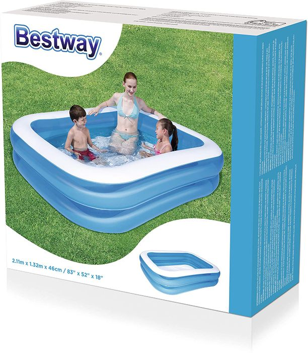 "Bestway 12819 Inflatable Swimming Pool 83""X52""X18"" - Only £4.99!"
